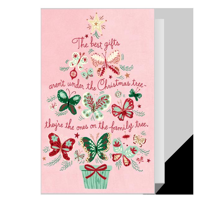 Dolly Family Tree Christmas Printable Christmas Cards