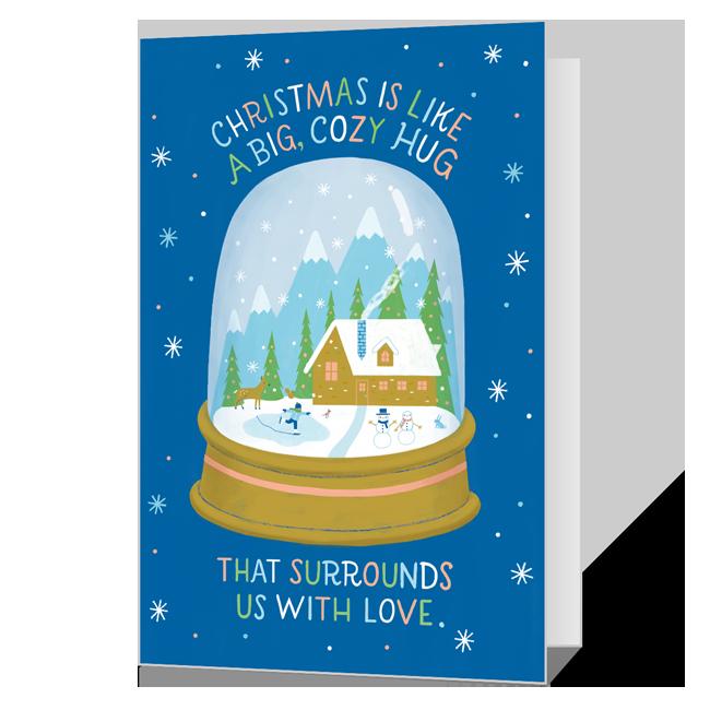 Dolly Christmas Hug Printable Christmas Cards