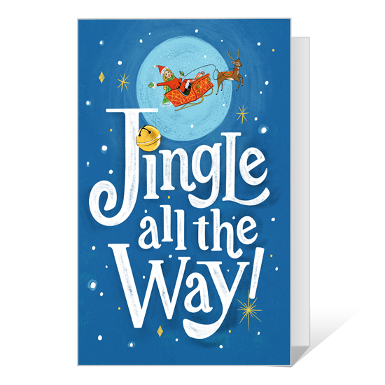 Dolly Jingle All the Way Printable Christmas Cards
