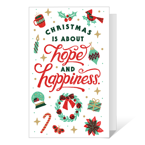 Dolly Hope and Happiness Printable Christmas Cards