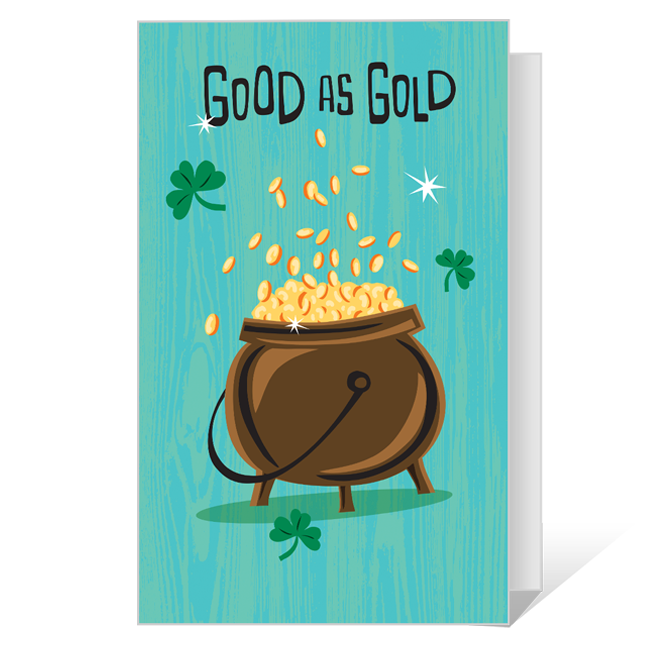 Good as Gold Printable St. Patrick's Day Cards