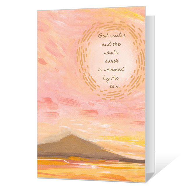 God Smiles at Easter Printable Easter Cards