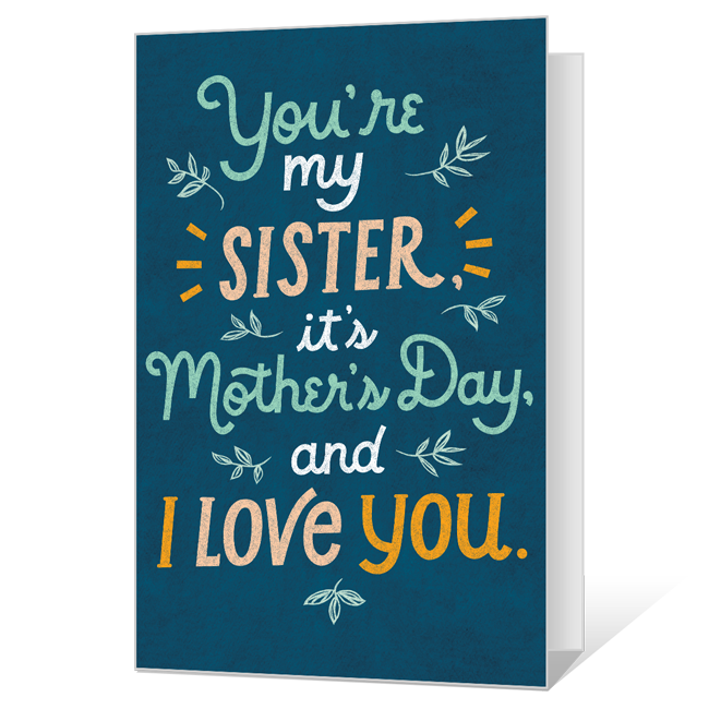 To My Sister on Mother's Day Mother's Day Cards