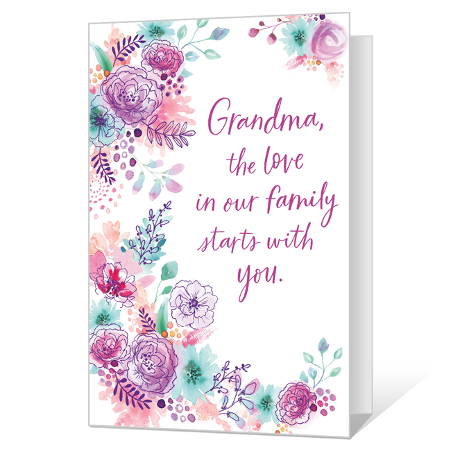 A Grandma's Love Mother's Day Cards