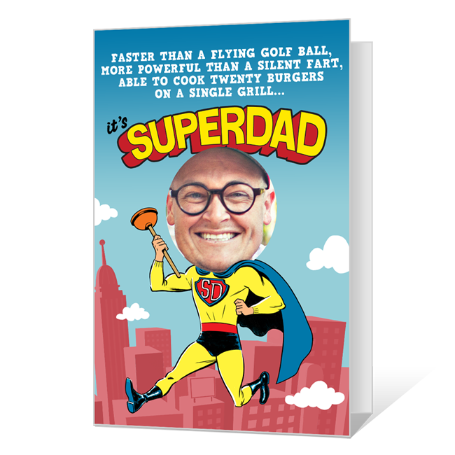 SuperDad Printable (Add-a-Photo) Father's Day Cards