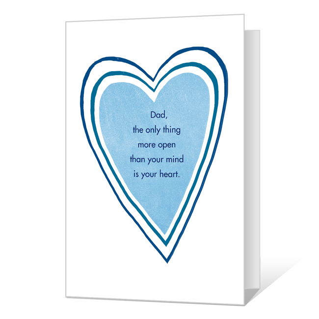 Your Open Heart Father's Day Cards