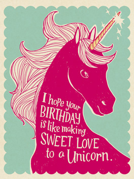 Unicornstyle birthday card