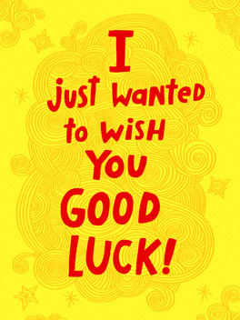 Sacrifice wish 'em luck card