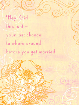 Unstoppable bachelorette card
