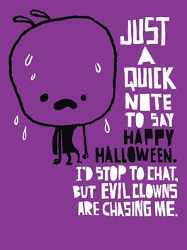 Clowning Around halloween card