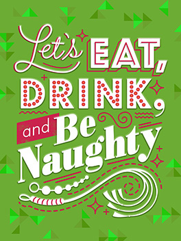 Nice Naughty Note christmas card