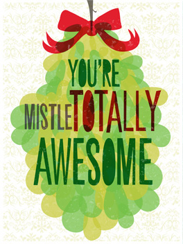 Mistletotally Awesome Card christmas card
