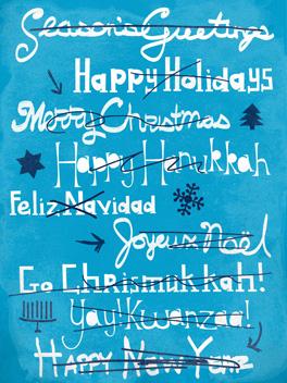 A Simple Wish season's greetings card