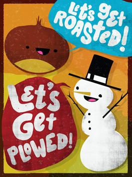 Holidazed season's greetings card