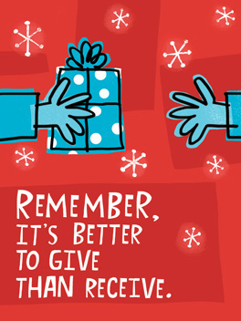 Give & Take christmas card