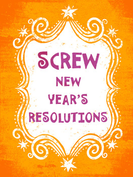 Resolution WIN happy new year card