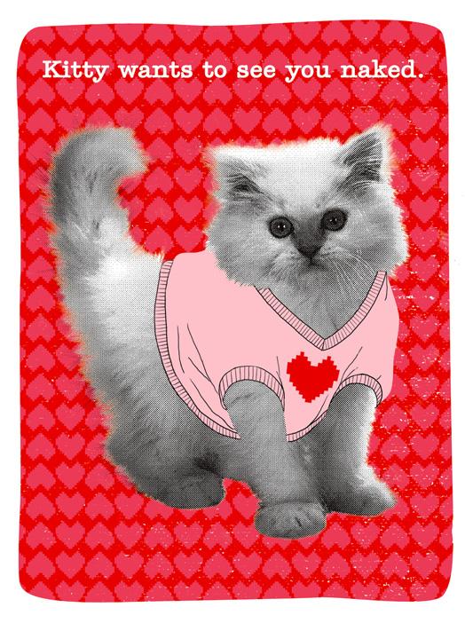 Hello Freaky Kitty Card – Hello Kitty Valentine Cards