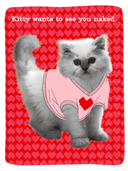 Hello, (Freaky) Kitty valentine's day card