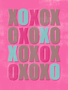 XOXOXXX valentine's day card
