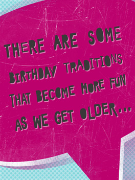 Classic Hits birthday card