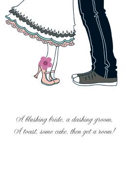 Blushing/Dashing the big day card