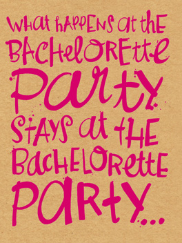 Discretion (NOT!) bachelorette card