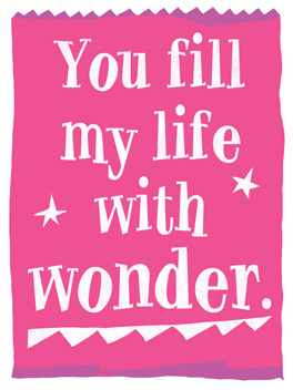 Wonderwear life, etc. card