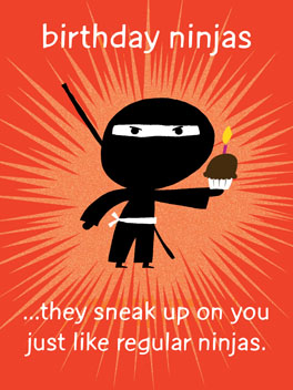 Birthday Ninjas birthday card