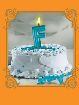 """""""F"""" Birthday birthday card"""