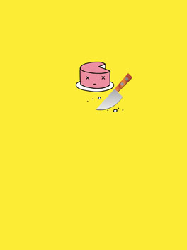Cake Killer birthday card