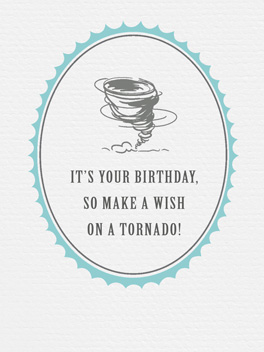 Tornado Wish birthday card