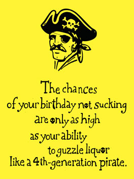 Pirate Birthday birthday card
