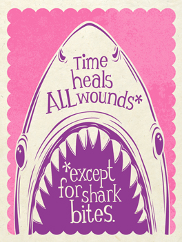 Hark, Shark! cheer-ups card