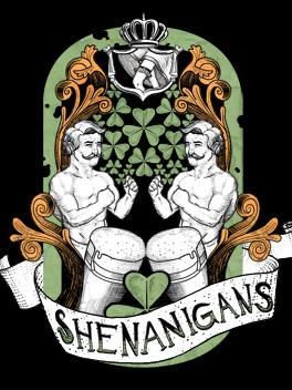 Shenanigans st. patrick's day card