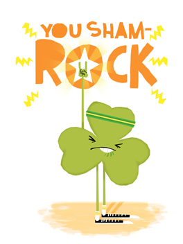 You sham-rock st. patrick's day card