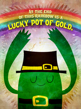 Lucky Pants st. patrick's day card