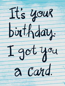 Plain Ole Card birthday card