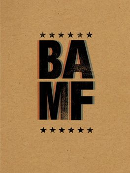 BAMF'N Birthday birthday card