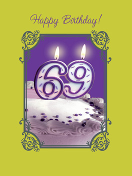 69 birthday card