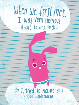 Naked Rabbit life, etc. card