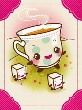 Cup of Fun life, etc. card