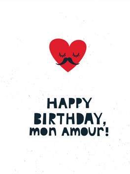 Oui Oui birthday card