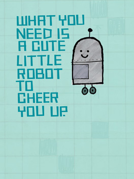 Cheer-bot cheer-ups card