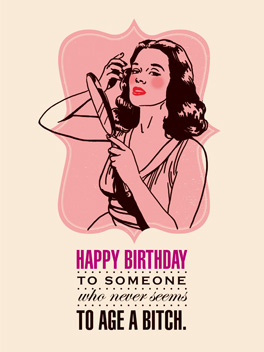 Happy Birthday Bitch birthday card