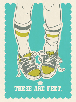 These are Feet. card