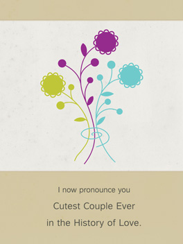 cutest couple ever engaged card