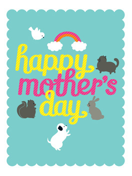 bipedal love mother's day card
