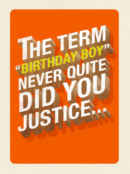 birthday man birthday card
