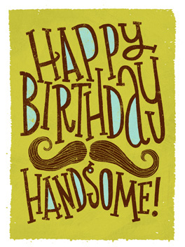 handsome wishes birthday card