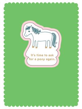 a new pony birthday card